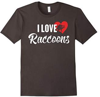 I Love Raccoons T-Shirt for Rodent and Small Animal Lovers