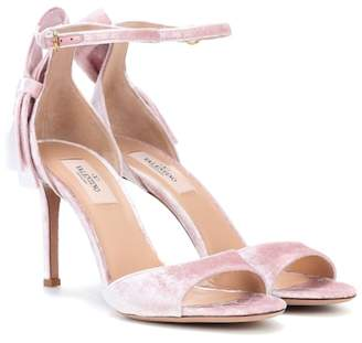 Valentino velvet sandals