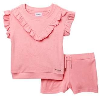 Hudson Loop Terry Top & Shorts Set (Toddler Girls)