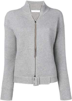 Fabiana Filippi rib knit zipped cardigan