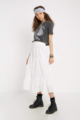 Urban Outfitters Evie Eyelet Maxi Skirt