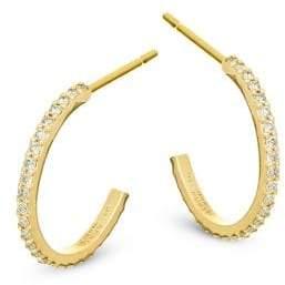 Lana Flawless Mini Diamond& 14K Yellow Gold Hoop Earrings