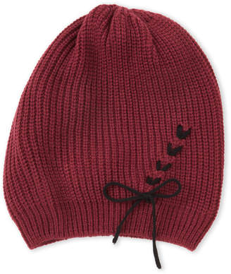 Vince Camuto Lace-Up Knit Beanie