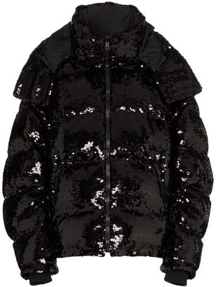 Faith Connexion sequin embellished puffer jacket