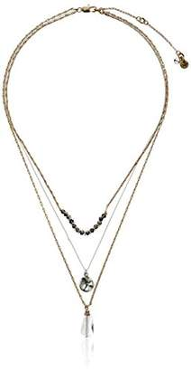 Kenneth Cole New York Delicates Disc and Faceted Bead Three Row Necklace