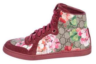 Gucci GG Dry Rose High-Top Sneakers