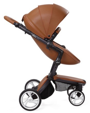 Infant Mima Xari Black Frame Stroller With Reversible Reclining Seat & Carrycot 2