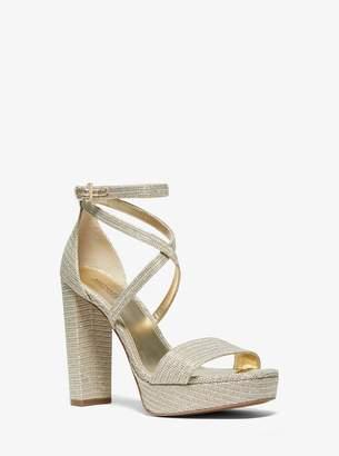 MICHAEL Michael Kors Charlize Glitter Chain-Mesh Platform Sandal