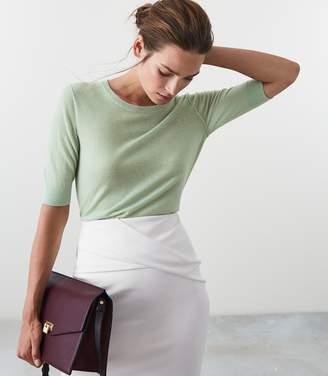 Reiss AMELIA WOOL BLEND JUMPER Soft Green