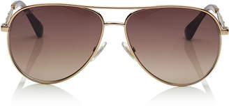 Jimmy Choo JEWLY Bronze Aviator Sunglasses