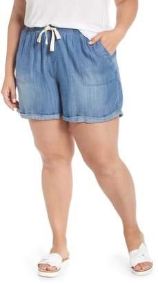 Caslon Drawstring Chambray Shorts