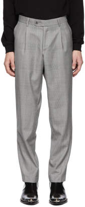 Misbhv Grey Check Suit Trousers