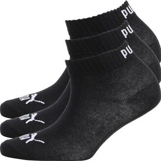 Puma Boys Two Pack Quarter Socks Black