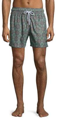 Retromarine Psychedelic Moss Printed Swim Trunks, Green Pattern $155 thestylecure.com