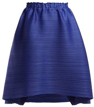 Pleats Please Issey Miyake Stratum Pleated Skirt - Womens - Blue