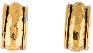 ChanelChanel Hammered Hoop Earrings