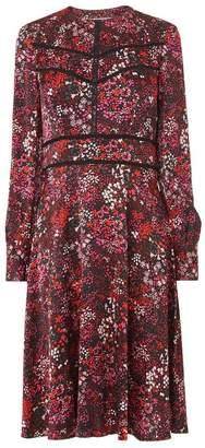 LK Bennett Robyn Red Floral Dress