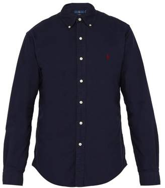 Polo Ralph Lauren Slim Fit Cotton Oxford Shirt - Mens - Navy