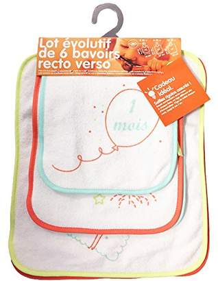 Babycalin Set of 6 Expandable Bibs with 2 Sides
