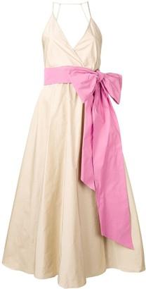 No.21 flared bow dress