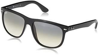 Ray-Ban Men's Rb4147 Rectangular Sunglasses, Black frame/Grey Gradient Lens