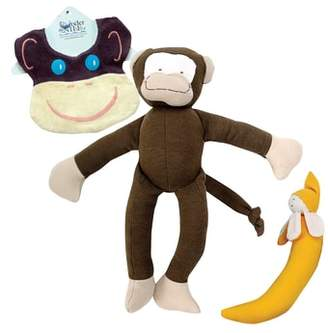 Under the Nile 3-Piece Monkey Bib, Stuffed Animal and Stuffed Banana Set