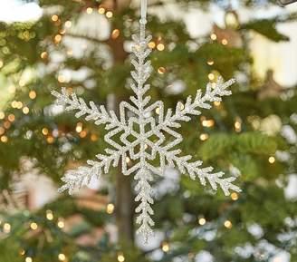 Pottery Barn Kids Monique Lhuillier Oversized Beaded Snowflake Ornament