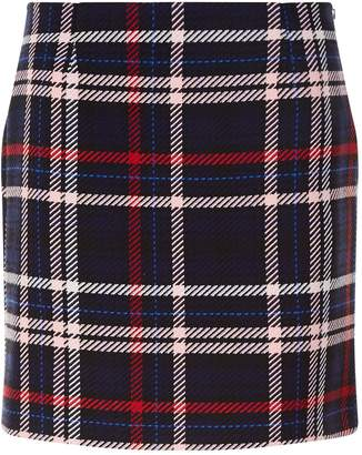 Claudie Pierlot Check Print A-Line Mini Skirt