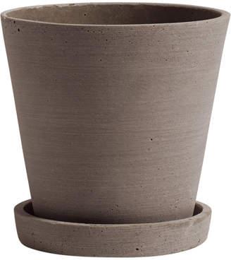 HAY - Polystone Flowerpot & Saucer - Terracotta - Small