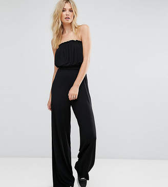 Asos Tall DESIGN Tall Bandeau Jersey Jumpsuit with Wide Leg