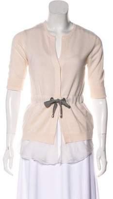 Brunello Cucinelli Short Sleeve Cashmere Cardigan