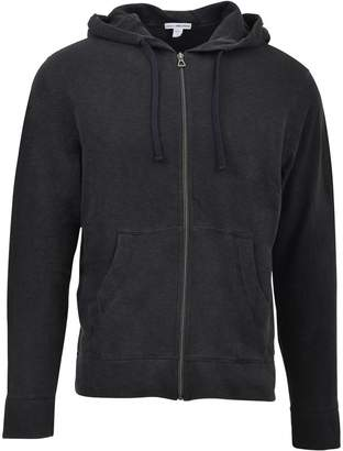 7f2dcf945193 James Perse Black Hooded Zip-up Jacket