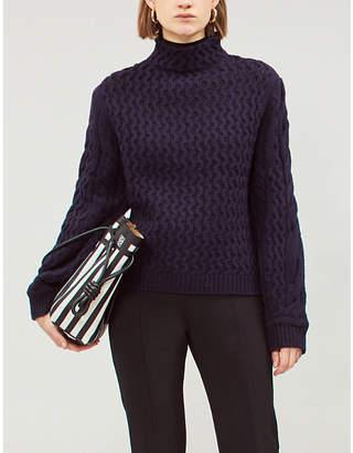 Victoria Beckham Victoria Cable-knit turtleneck jumper