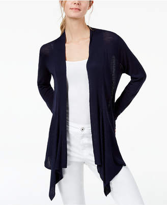 INC International Concepts I.n.c. Ribbed Open-Front Cardigan, Created for Macy's