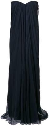 Alexander McQueen strapless evening dress