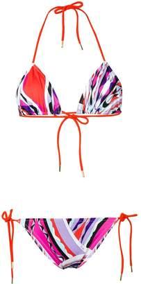 Emilio Pucci Burle Print Triangle Bikini