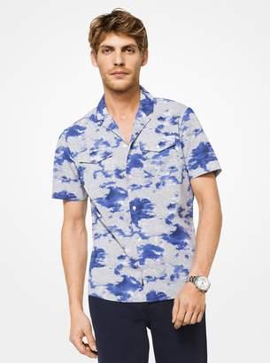 Michael Kors Slim-Fit Printed Cotton Shirt