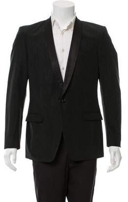 Versace Woven Single Button Blazer