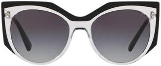 Valentino Transparent Acetate Gradient Sunglasses