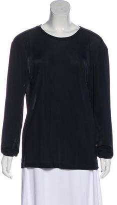 Prada Sheer Long Sleeve Top
