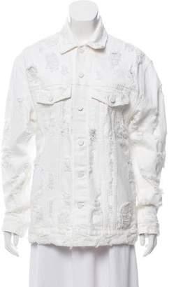 Alexander Wang Denim x Oversize Distressed Jacket
