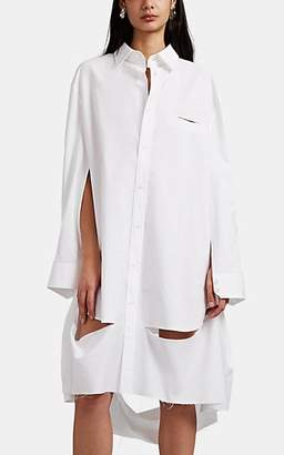 Maison Margiela Women's Distressed Oversized Shirtdress - White