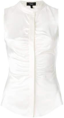 Theory gathered sleeveless blouse