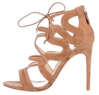 Alexandre Birman Suede Lace-Up Sandals