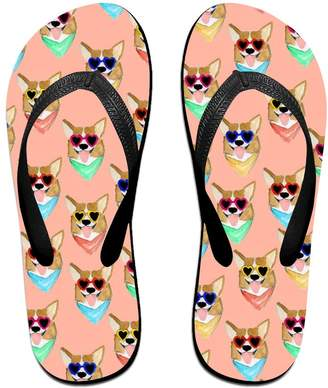 Corgi Flip-flap Colorful Love Sunglass Unisex Fashion Beach Slipper Indoor And Outdoor Classical Flip Flops Thong Sandals S