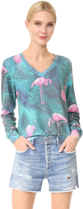 Wildfox Miami Palms Sweatshirt $108 thestylecure.com
