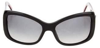 Versace Oversize Gradient Sunglasses