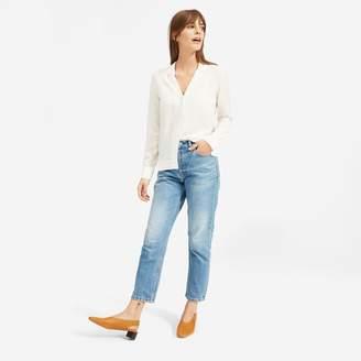 e0e0f81bad4898 Notch Collar White Shirt - ShopStyle