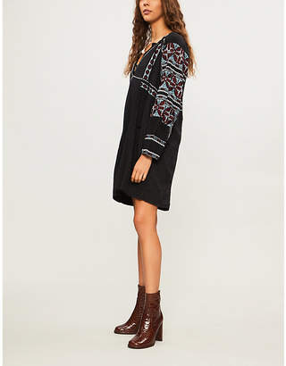 Free People All My Life embroidered cotton-blend mini dress