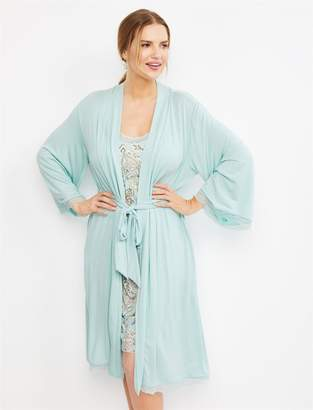 51cf476441908 A Pea in the Pod Lace Trim Nursing Nightgown And Robe